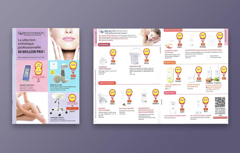 Exemple de brochure soins et beauté