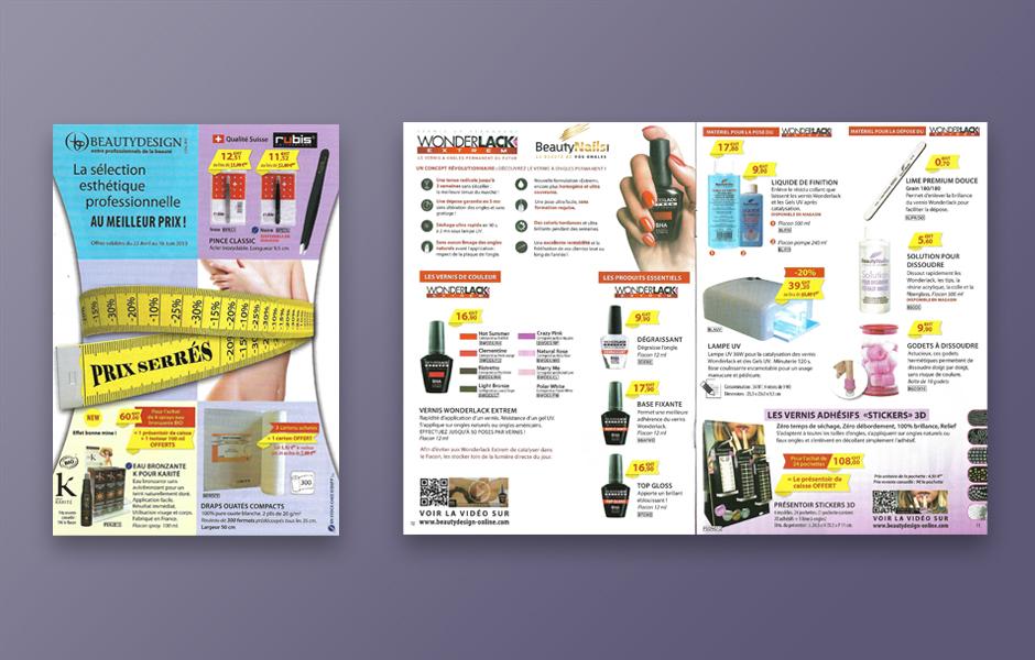 Exemple de brochure Beauty Design