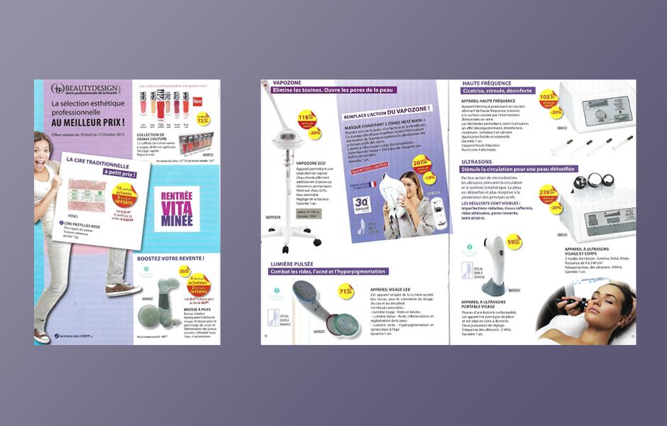 Un exemple de brochure réalisé par La Plume à Motifs