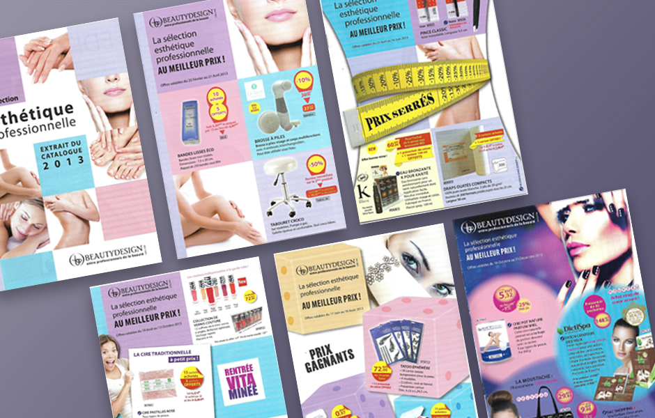 Collection de livrets print pour Beauty Design