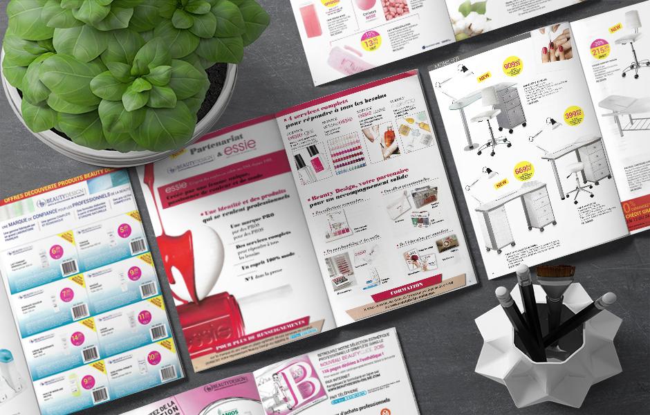 Création graphique livret promotionnel Beauty Design
