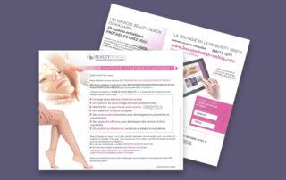 Rédaction d'un mailing pour Beauty Design.