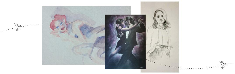 Passion pour le dessin et la peinture depuis mes études en Arts Appliqués.