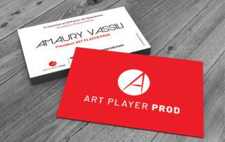 Carte de visite Art Player Prod