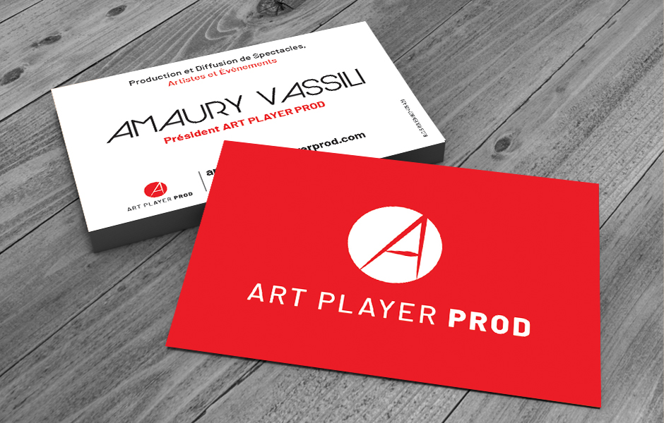 Carte de visite Art Player Prod
