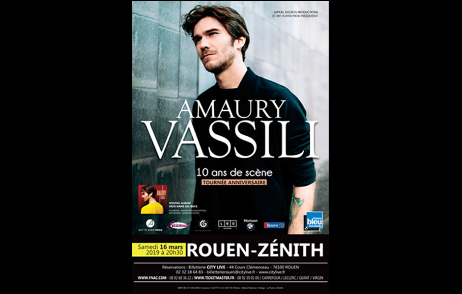 Flyer concert Amaury Vassili