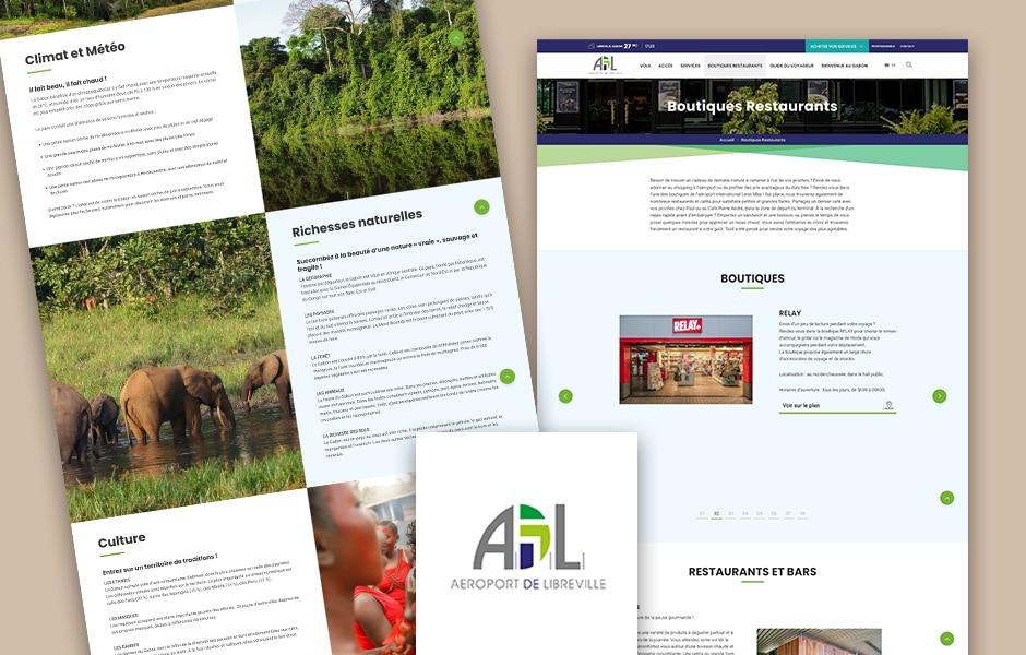 Copywriting Site web Aéroport de Libreville