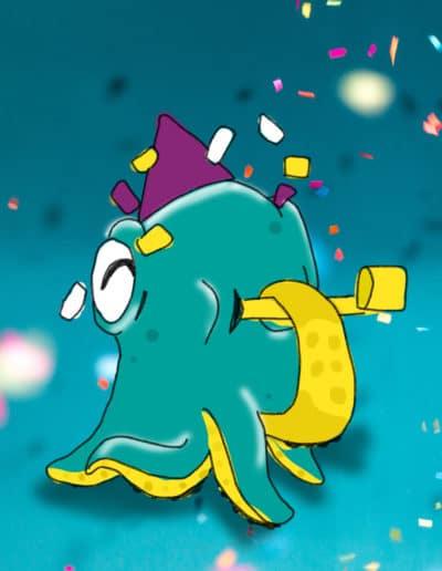 Illustration Poulpi Nouvelle année