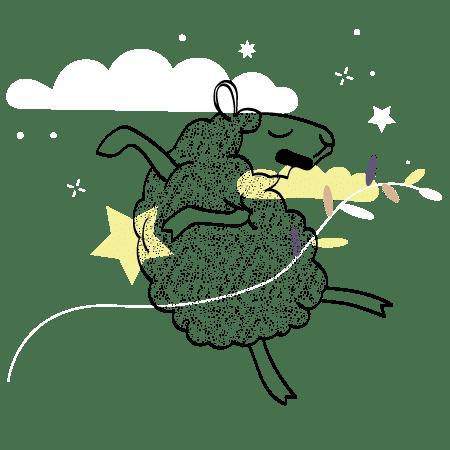 Illustration créative mouton