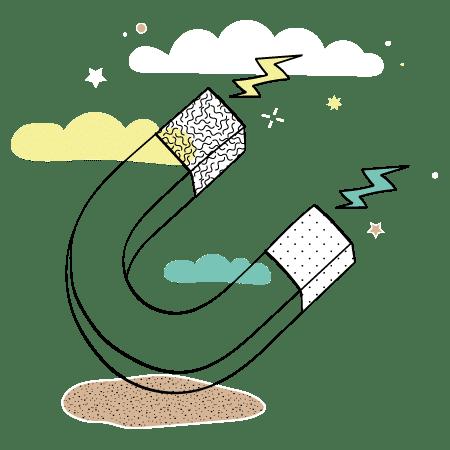 Illustration aimant Inbound Marketing