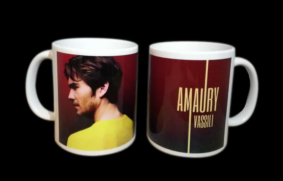 Goodies, mugs personnalisés Amaury Vassili
